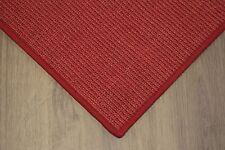 Sisal Teppich umkettelt rot 200x250cm 100% Sisal gekettelt