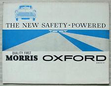 MORRIS OXFORD SERIES VI Car Sales Brochure Sept 1961 #H&E 6191