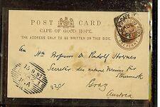 CAPE OF GOOD HOPE (P2605B) 1897  QV PSC1D    TO AUSTRIA