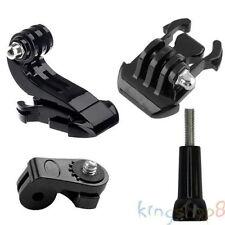 J-Hook + Basic Mount + Adapter + Screw for Sony Action Cam & GoPro Hero 6 5 4 3