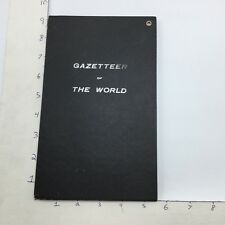 "1909 Gazetteer Of The World - Bullard Co. 34 X 39"" World Map & Info Negro Indian"