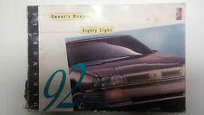 Original 1992 Oldsmobile 88 Betriebsanleitung Bedienungsanleitung in Englisch