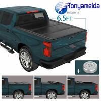 Tri-Fold Tonneau Cover For 2019-2020 Silverado Sierra 1500 Crew Cab 6.5ft Bed