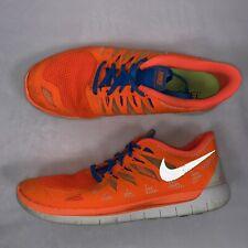 Nike Mens Free 5.0 Running Shoes Size 10.5 Men's Orange Blue White 642198-801