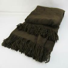 Ginger Lily 100% Silk Throw with Tasselled Edge - Chocolate Brown - 130x190cm