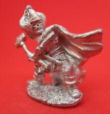 Warhammer Pre slotta AD&D citadel metal 1980's C17(84-06) SKELETON w. HAMMER