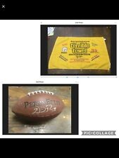 MYRON COPE LIMITED EDITION 2005 STEELERS TERRIBLE TOWEL & WILLIE PARKER-FOOTBALL