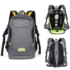 DSLR SLR Camera Backpack Laptop Bag Rucksack Travel Bag Padded Insert Daypack N