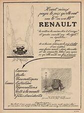 Y9462 Voiture RENAULT - Pubblicità d'epoca - 1925 Old advertising
