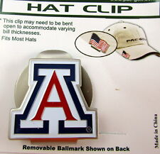 PAC Golf Hatclip w/ Ballmark Ball MarkBallmarker NCAA ARIZONA WILDCATS White
