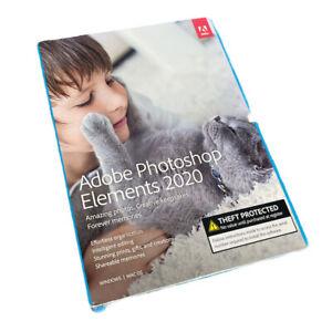 New Sealed Adobe Photoshop Elements 2020 - PC/Mac Disc Version
