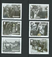 GUERNSEY 2010 GUERNSEY EVACUEES  SET OF 6 MOUNTED MINT,