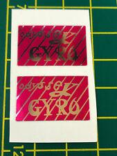 old school bmx decals stickers odyssey gyro cable decals pair dark grey chrome