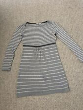Boden Grey Stripe Knitted Dress size 10-12 Perfect Condition