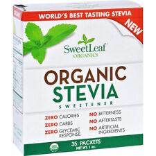 SWEET LEAF - Organic Stevia Sweetener Powder - 35 Packets
