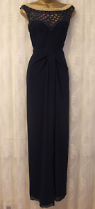 Virgos Lounge Cage Back Embellished Navy Gold Party Occasion Maxi Dress 14 42