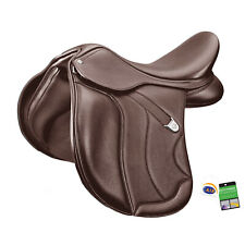 Bates WIDE All Purpose+ Adjustable General Purpose Saddle with CAIR Black/Brown