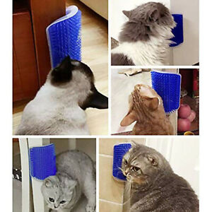 Cat Scratcher Pet Hair Removal Massage Comb Puppy Plastic Wall Grooming Brush