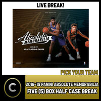 2018-19 PANINI ABSOLUTE 5 BOX (HALF CASE) BREAK #B052 - PICK YOUR TEAM -
