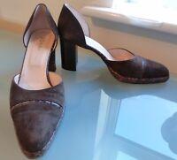 Hobbs Shoes 5 38 Vintage High Block Heel Work Smart Brown Platform Fashion
