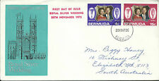 1972 FDC Royal Silver Wedding set 2 addressed to Australia FDI 20 Nov 1972