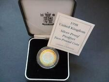 1998 ROYAL MINT SILVER PROOF PIEDFORT £2 COIN CASED/CAPSULED/C.O.A 1998 £2 COIN