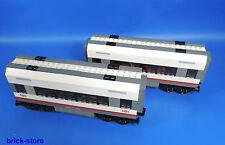 LEGO®  Eisenbahn Waggon Mittelwaggon 2 Stück  /  Aufgebaut wie 60051