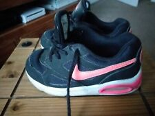 Girls Nike Air Max Trainers Size 9.5(27). Black /Pink