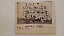 Atlanta Crackers 1906 Baseball Team Picture Jimmy Archer Dutch Jordan Syd Smith