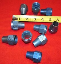 "Pack of 10, One piece 5/8"" AN tubing flare nut, #10 Vintage radial engine."