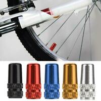 Bike MTB Aluminium Presta Valve Cap Light Dust Cover Bicycle Fixie Road BG/_ HK