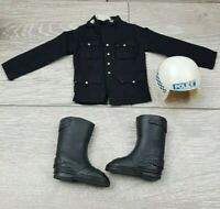 Vintage Action Man Police Patrolman Top & Shoes & Helmet