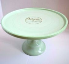 NEW ARLINGTON DESIGNS JADE JADEITE MILK GLASS DESSERT CAKE FOOTED STAND LARGE