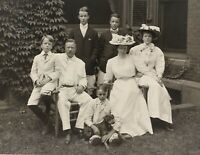 President Theodore Roosevelt, Wife Edith, Children and Family Dog-1907 Photo