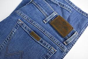 Wrangler Regular Fit STR Homme W36/L32 Extensible Bleu Fermeture Jean 35113_GS