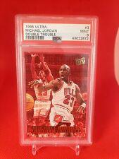 1995-96 Ultra Double Trouble #3 Michael Jordan Chicago Bulls HOF PSA 9 MINT