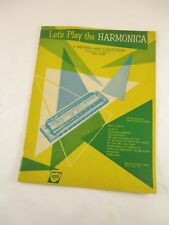 1964 MEMICK MUSIC JERRY SEARS BOOK, LET'S PLAY THE HARMONICA