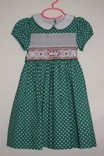 NWT Christmas Red Roses Smocked Girl Dress 2T