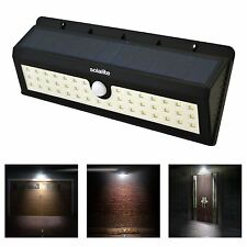 Solar Power 44 LED PIR Motion Activated Sensor Security Wall Light Lamp Outdoor