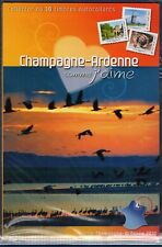 COLLECTOR TIMBRES  COMME J' AIME CHAMPAGNE ARDENNE 2010 10 TIMBRES AUTOCOLLANTS