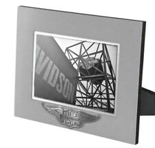 Harley-Davidson® Silver Winged Bar & Shield 5x7 Photo Picture Frame HDX-99107