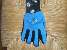 Nwt Official Nfl Texting Gloves Touch Screen Thumb Forefinger Tips Detroit Lions