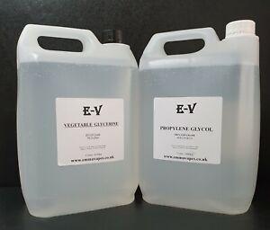 5 Litre Vegetable Glycerine Propylene Glycol VG/PG Base Mix Highest Purity