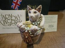 Harmony Kingdom Back Scratch Ii Cat in Tub Uk Made Box Figurine Sgn