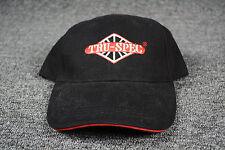 Baseball Cap Hat Adjustable Tru-Spec Black & Red Embroidered New