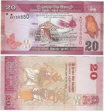 Sri Lanka 20 Rupees 2010 P-123 UNC Uncirculated Banknote - Owl Dancers