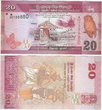 Rupias de Sri Lanka 20 2010 P-123 Uncirculated banknote UNC-bailarinas Búho