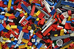 1 KG Lego Kiloware Steine Räder Platten Sonderteile gereinigt