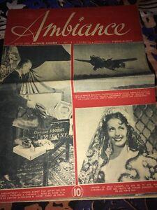 AMBIANCE, hebdomadaire. No1 de La Libération, Décembre 1944.