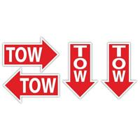 TOW Trackday Race Sticker Set 70x45mm ea Motorsport Race Rally Racing Car Decals